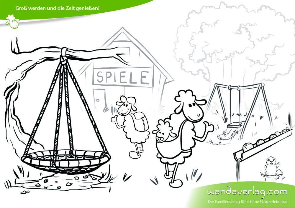 Malvorlagen und Ausmalbilder für Kinder: Zeitvertreib auf der Hütte ...